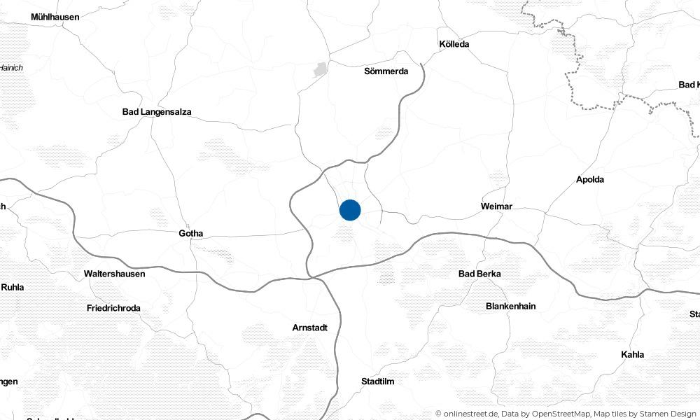 Karte: Wo liegt Erfurt?