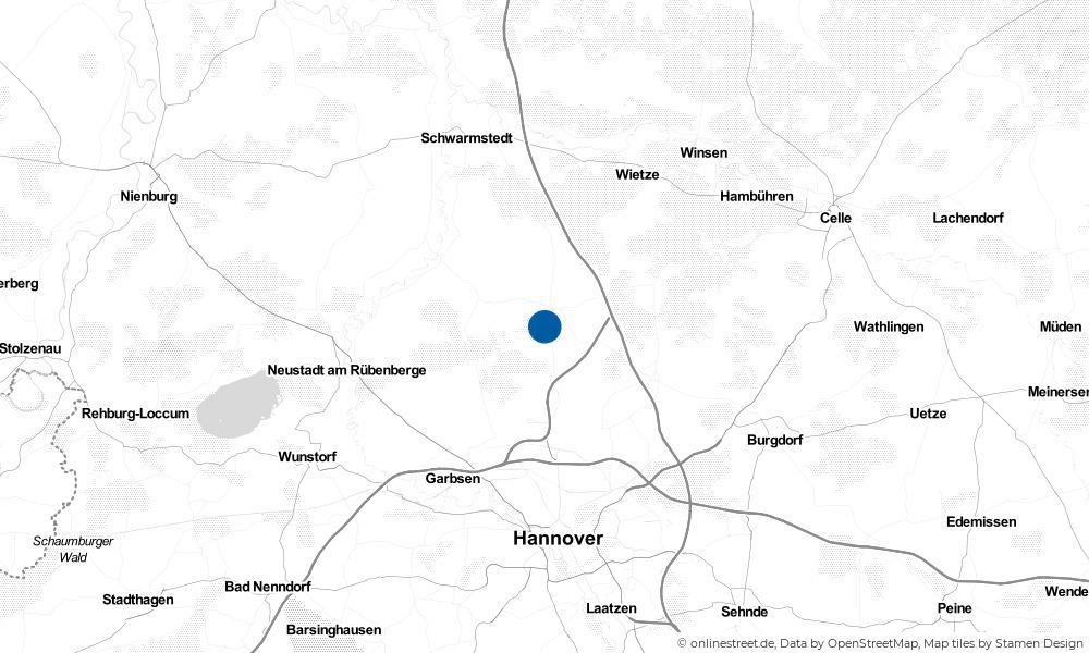 Karte: Wo liegt Wedemark?