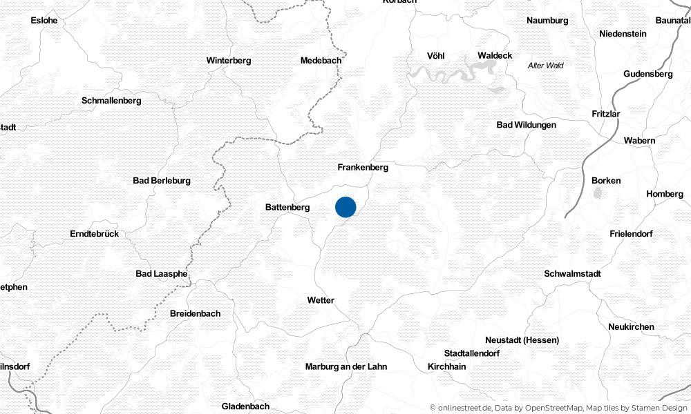Karte: Wo liegt Burgwald?