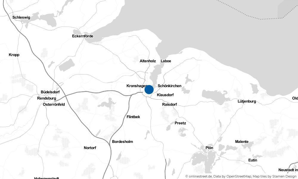 Karte: Wo liegt Kiel?