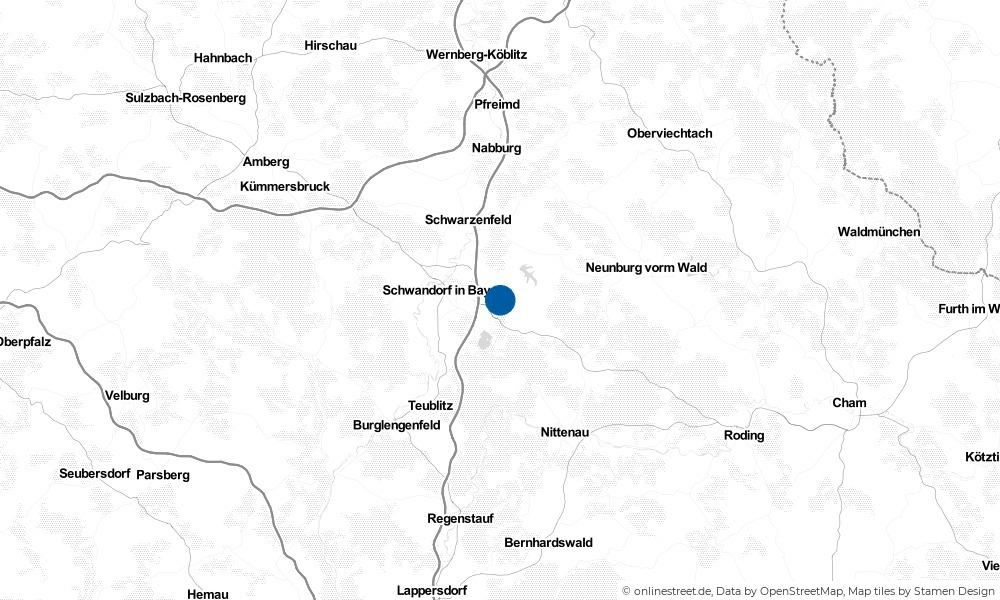 Karte: Wo liegt Wackersdorf?