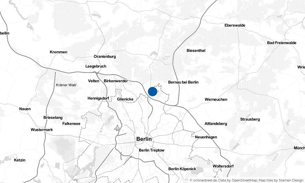 Karte: Wo liegt Schönerlinde?