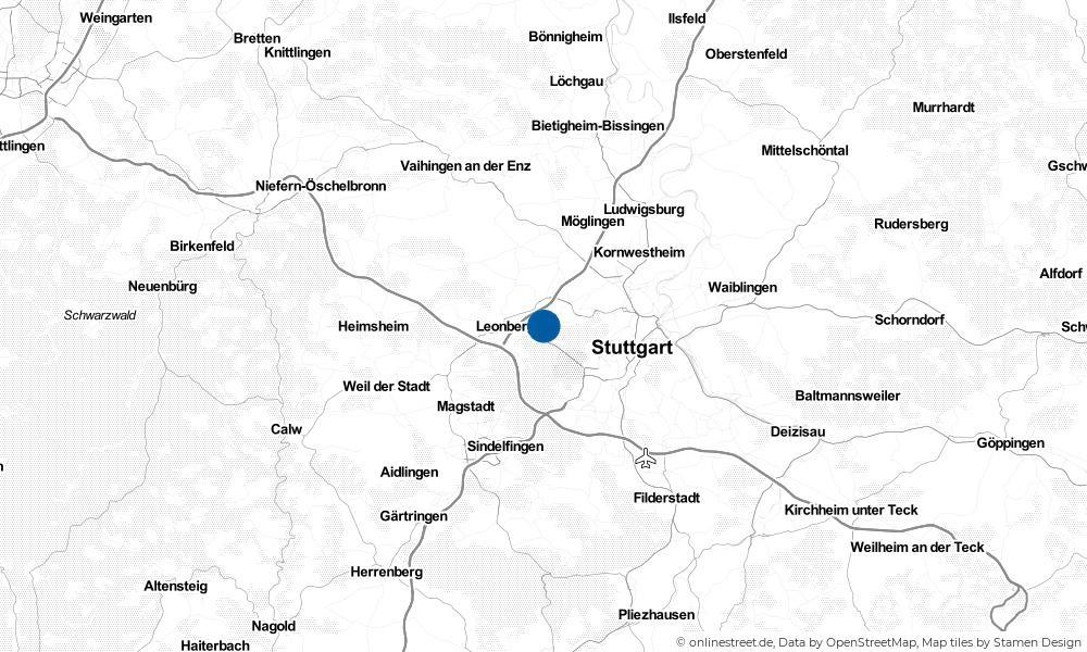 Karte: Wo liegt Gerlingen?