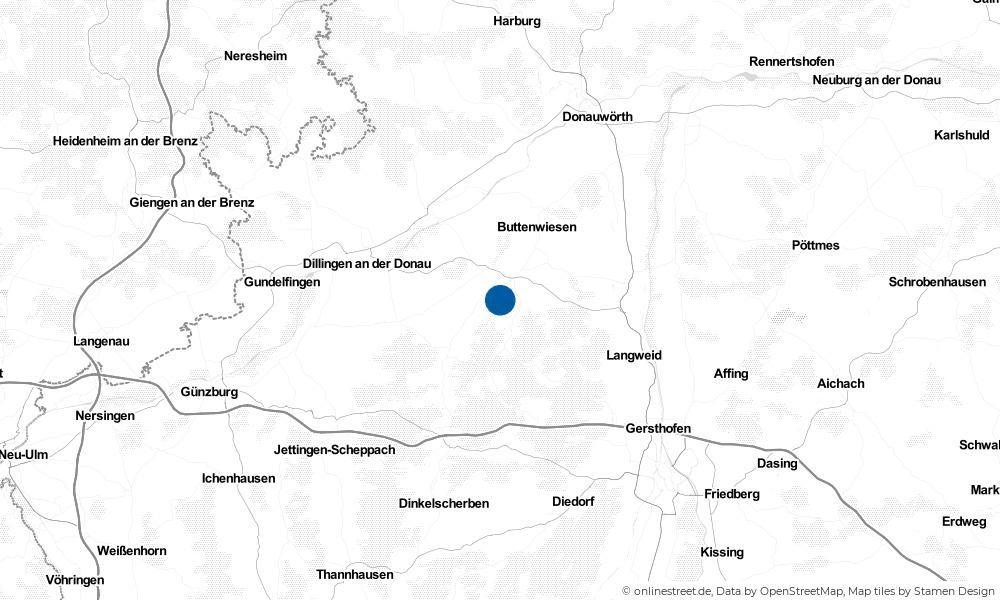 Karte: Wo liegt Wertingen?