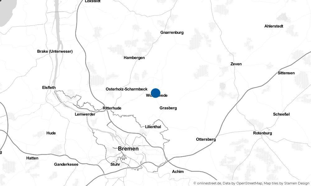 Karte: Wo liegt Worpswede?