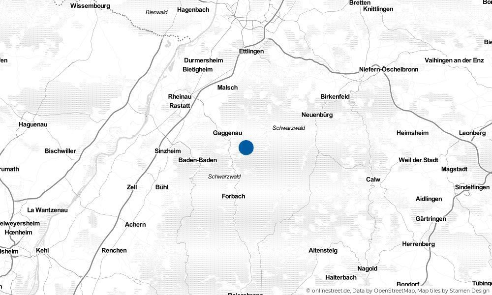 Karte: Wo liegt Loffenau?