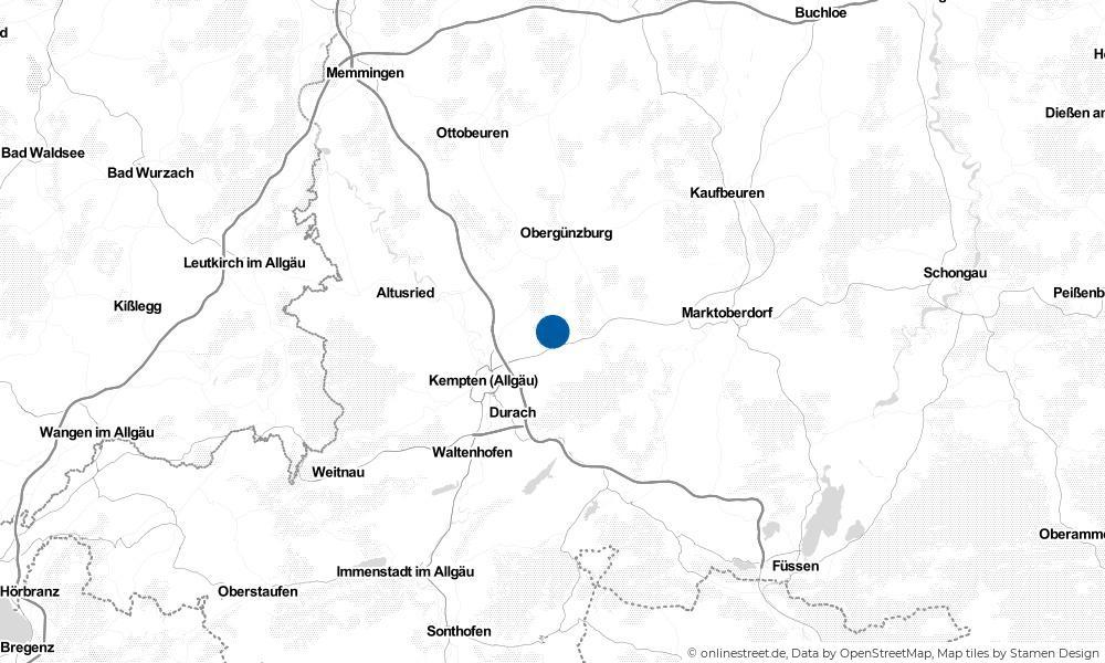 Karte: Wo liegt Wildpoldsried?