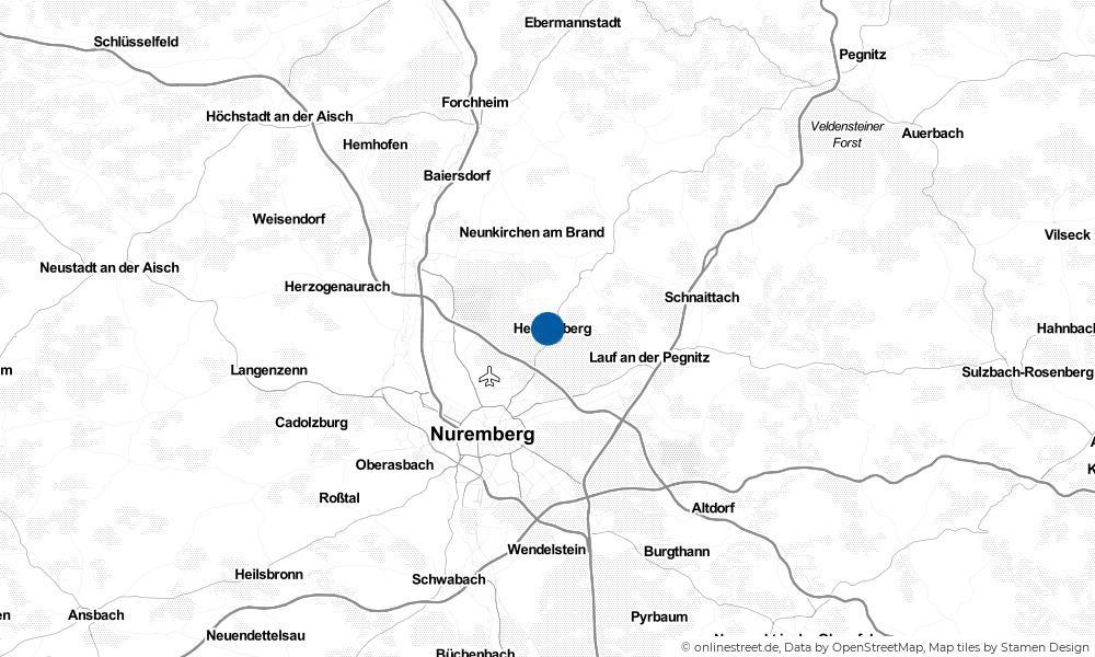 Karte: Wo liegt Heroldsberg?