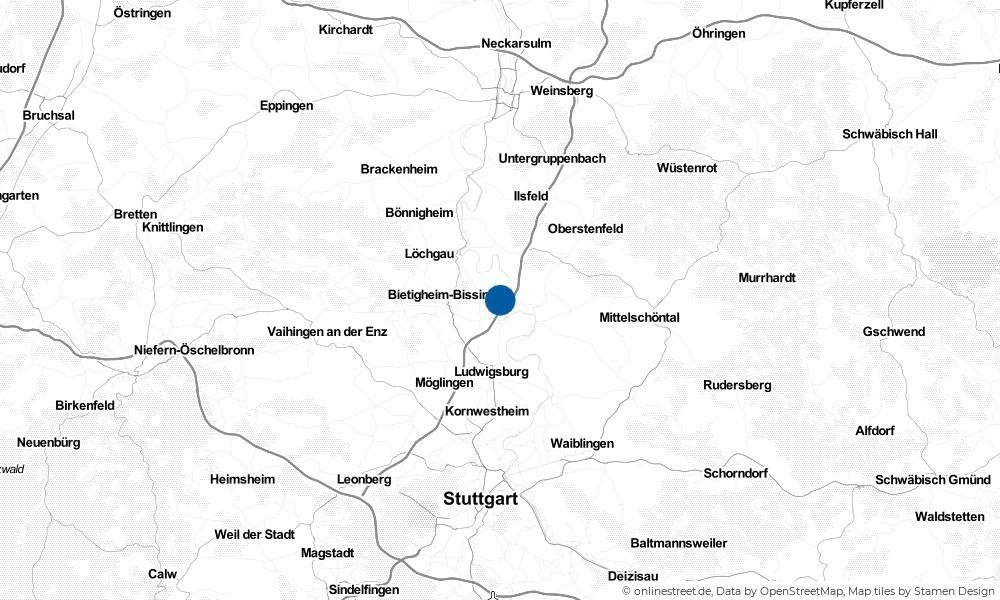 Karte: Wo liegt Pleidelsheim?