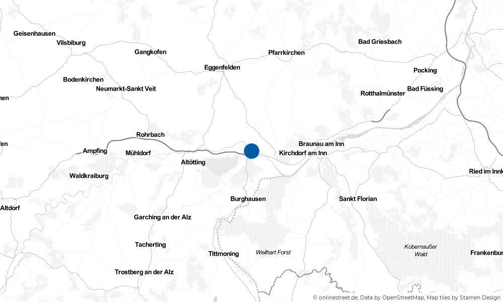 Karte: Wo liegt Marktl?