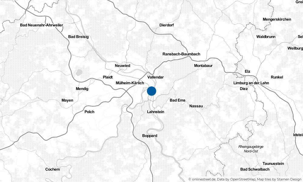 Karte: Wo liegt Koblenz?