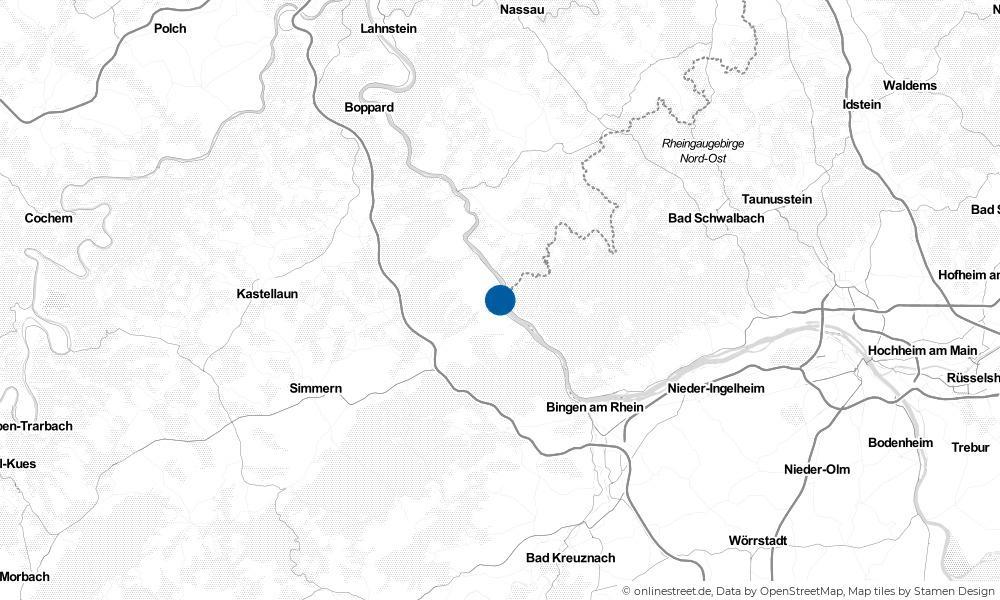 Karte: Wo liegt Bacharach?