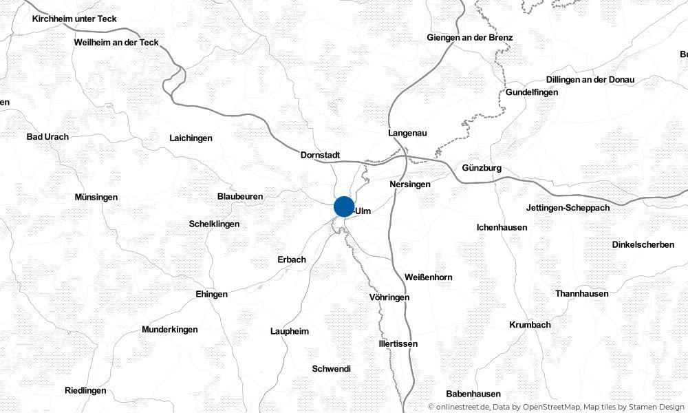 Karte: Wo liegt Ulm?