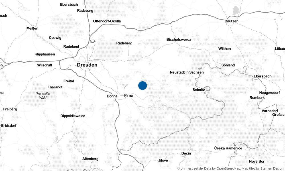Karte: Wo liegt Lohmen?