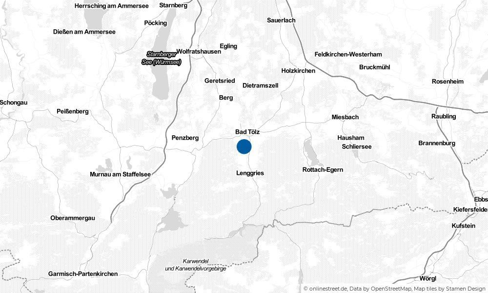 Karte: Wo liegt Wackersberg?