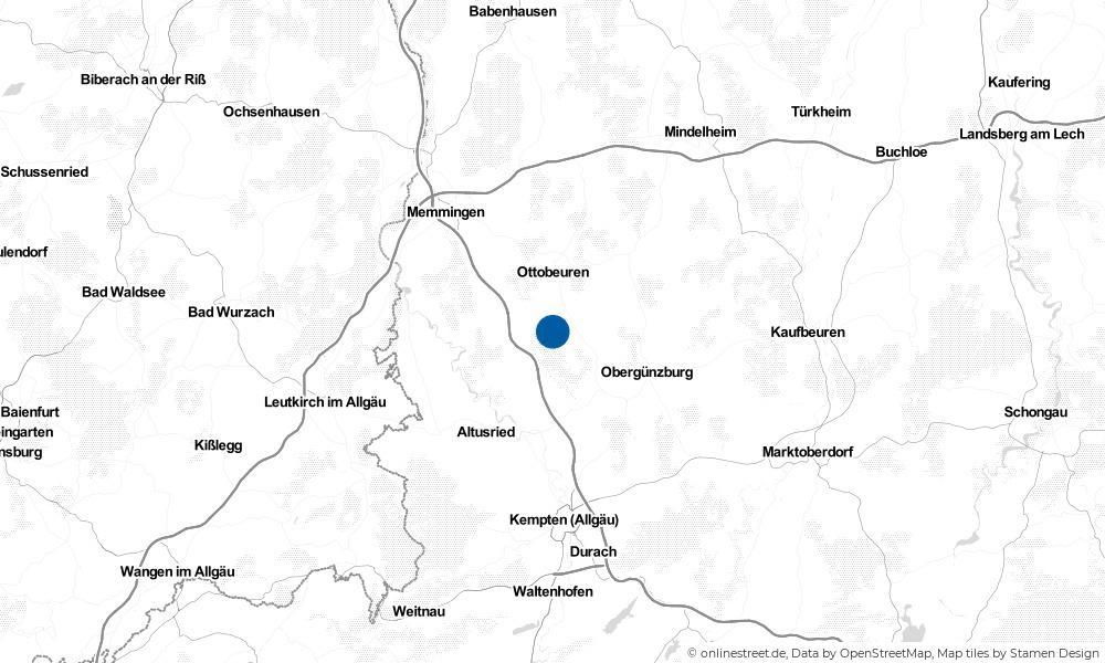 Karte: Wo liegt Böhen?