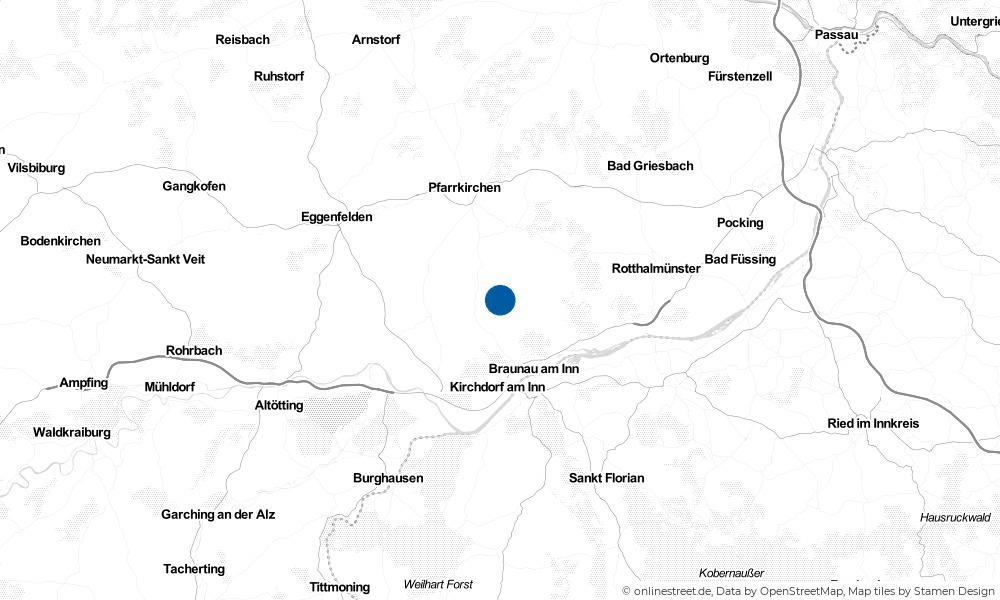 Karte: Wo liegt Wittibreut?