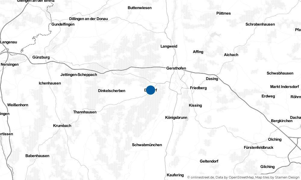 Karte: Wo liegt Diedorf?