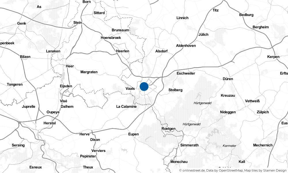 Karte: Wo liegt Aachen?