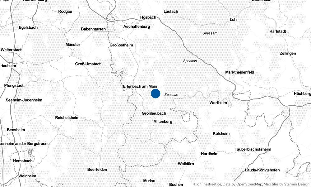 Karte: Wo liegt Mönchberg?