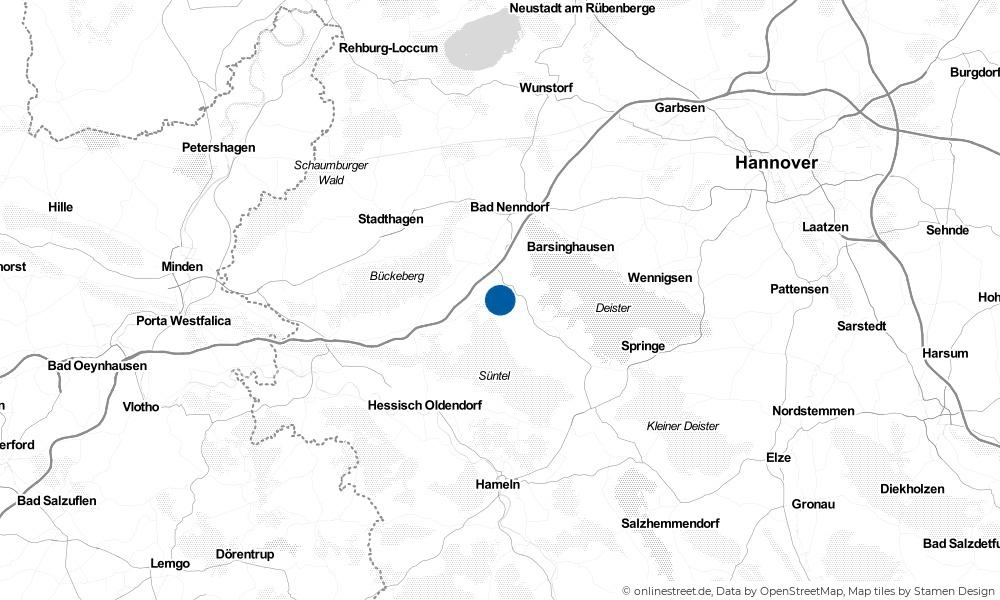 Karte: Wo liegt Meinsen?