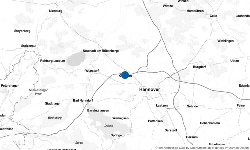 Karte: Wo liegt Garbsen?