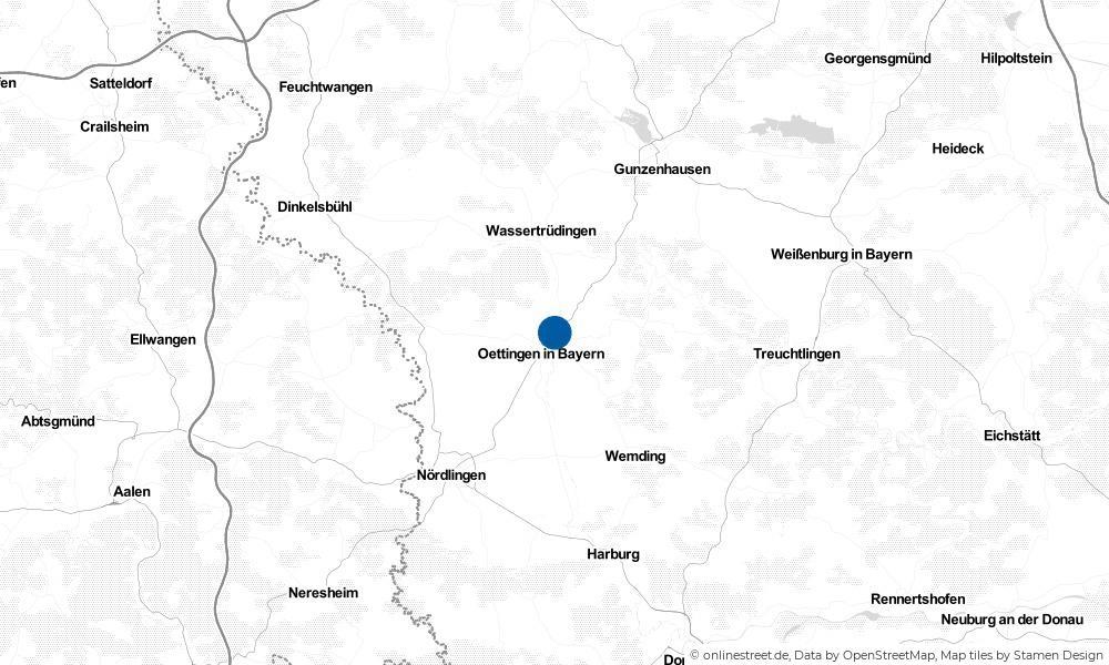 Karte: Wo liegt Hainsfarth?