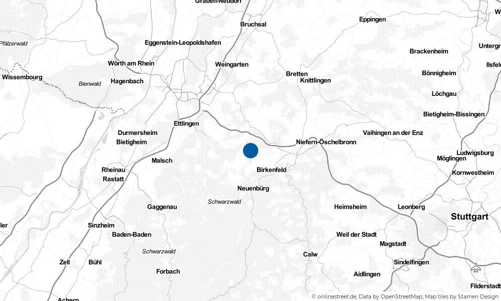 Karte: Wo liegt Keltern?