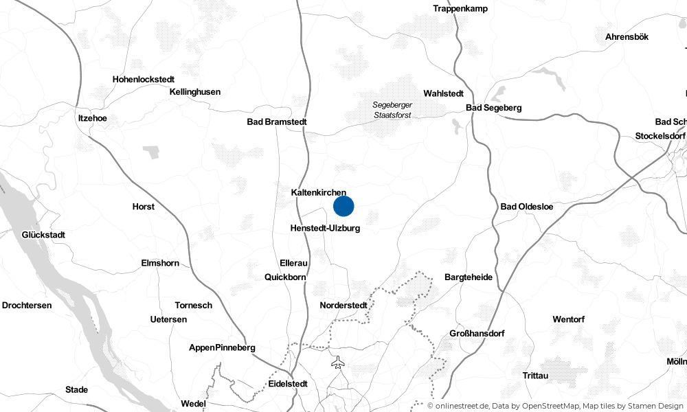 Karte: Wo liegt Kisdorf?