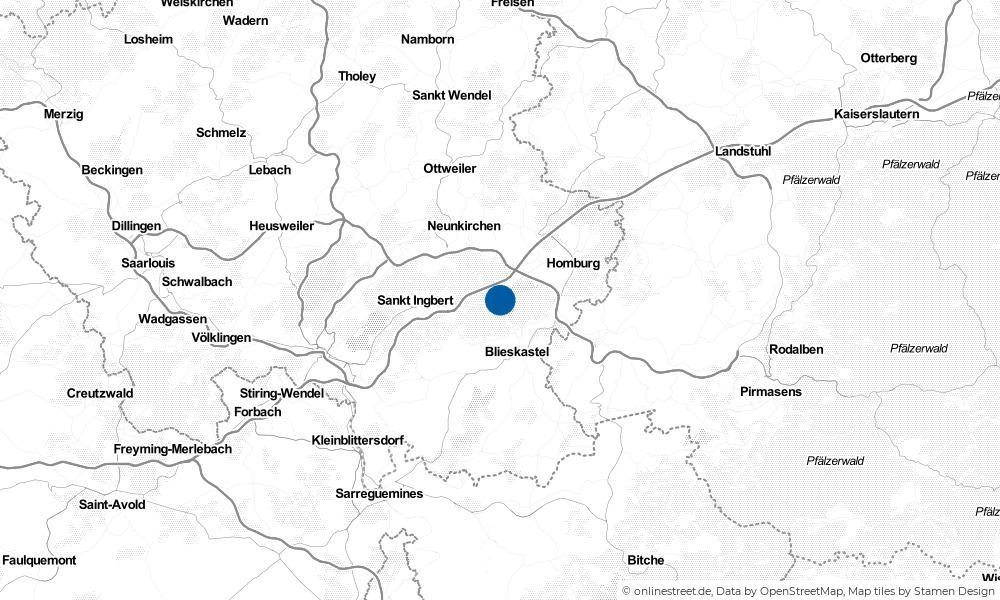 Karte: Wo liegt Kirkel?