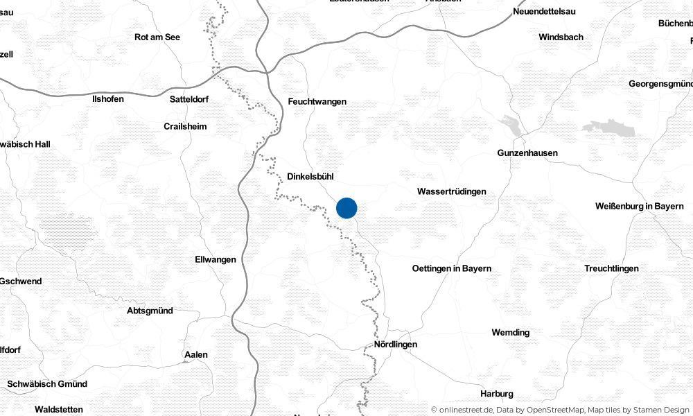 Karte: Wo liegt Wilburgstetten?