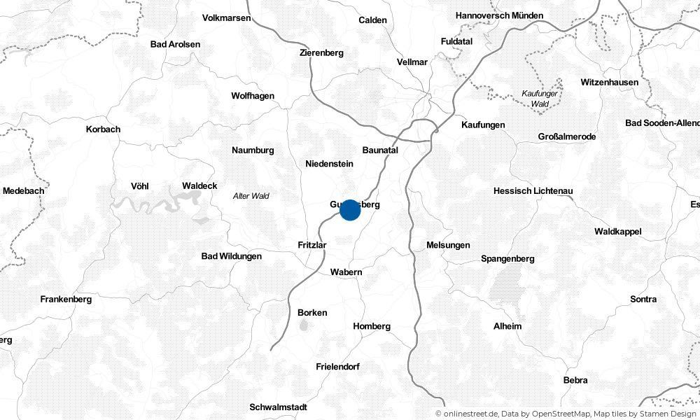 Karte: Wo liegt Gudensberg?