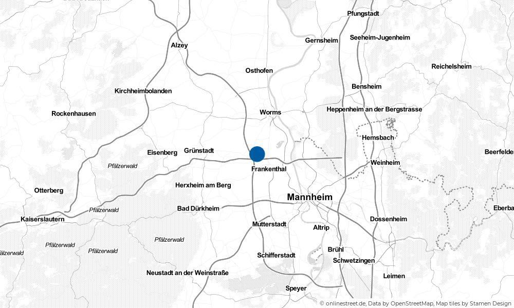 Karte: Wo liegt Beindersheim?