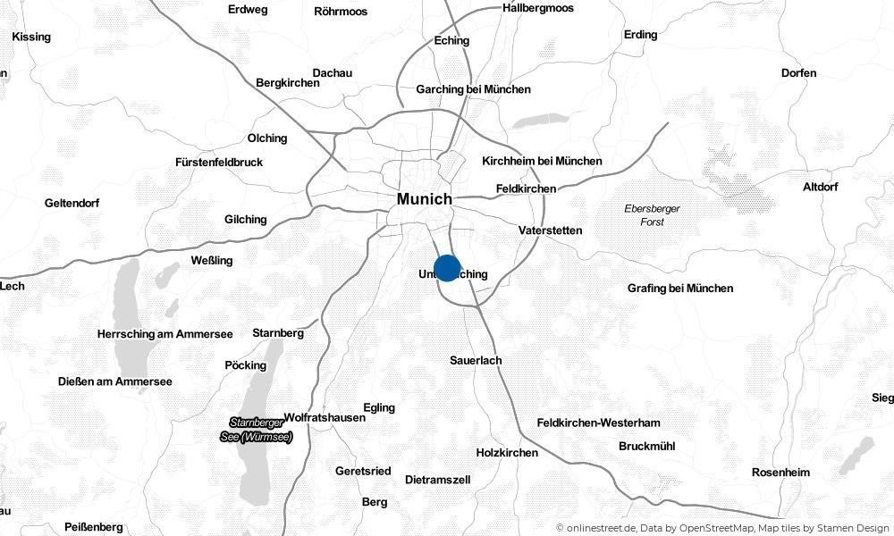Karte: Wo liegt Unterhaching?