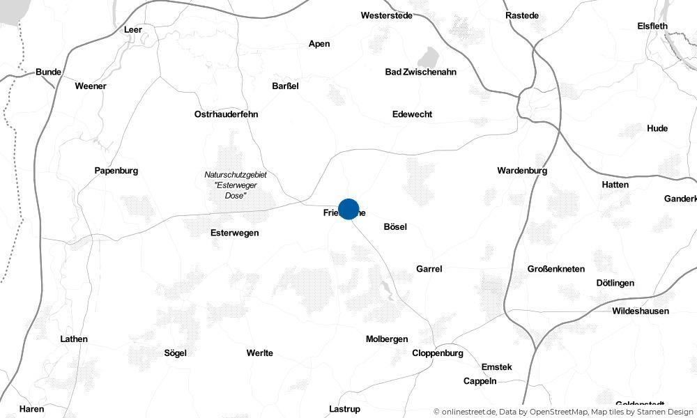 Karte: Wo liegt Friesoythe?