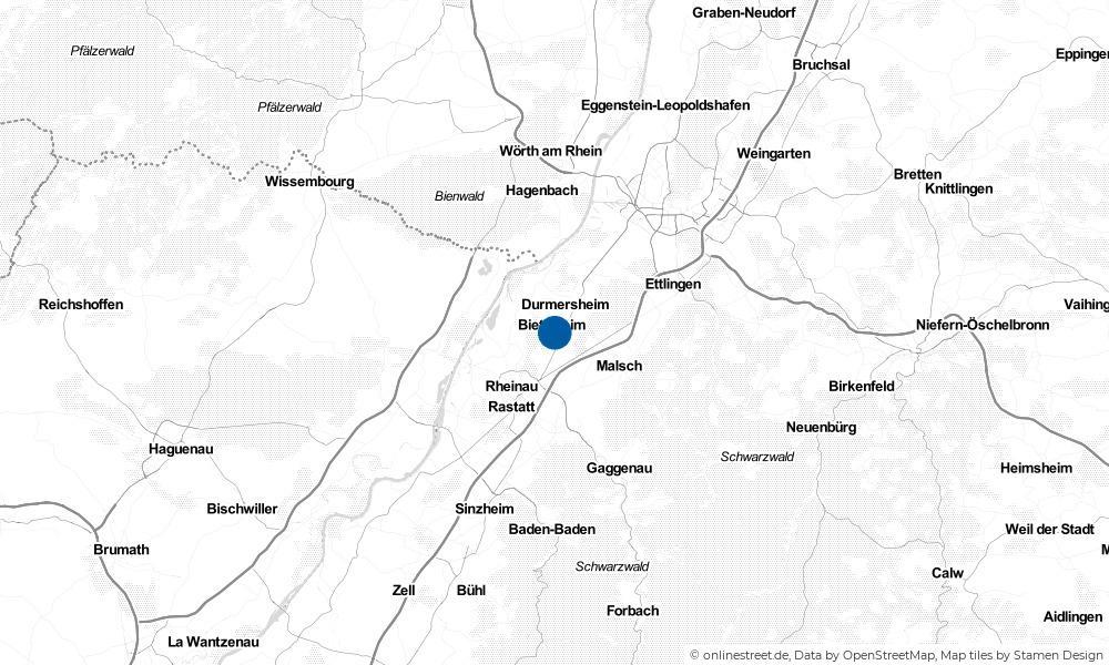 Karte: Wo liegt Bietigheim?