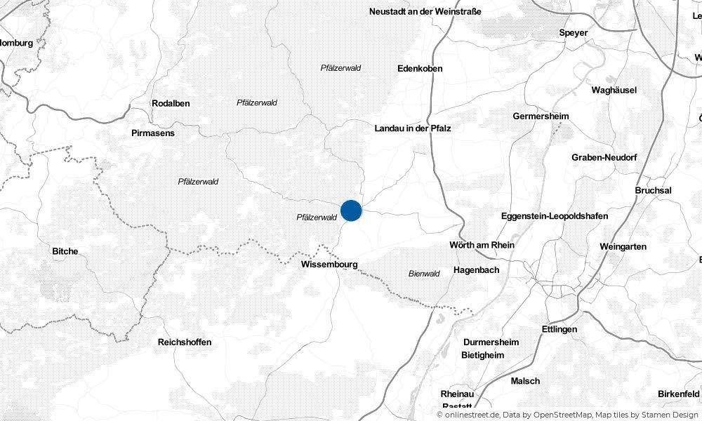 Karte: Wo liegt Bad Bergzabern?