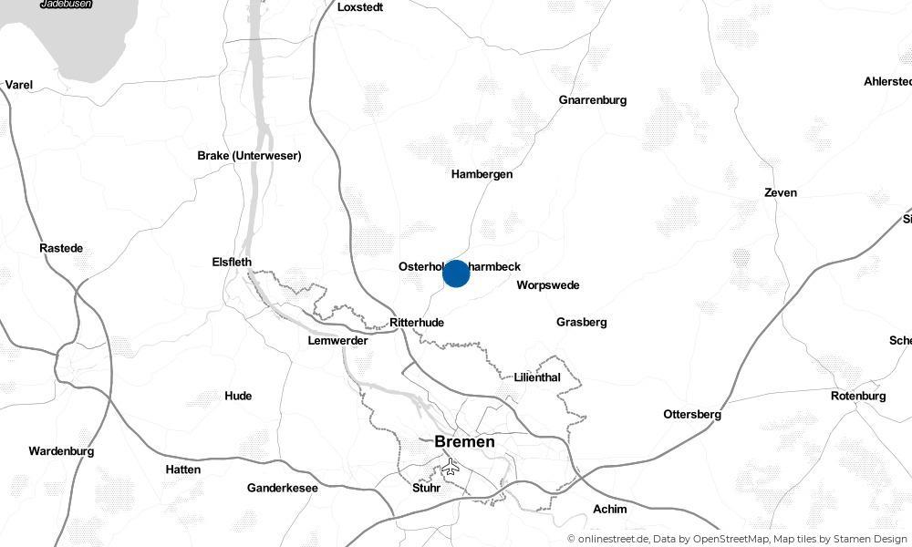Karte: Wo liegt Osterholz-Scharmbeck?