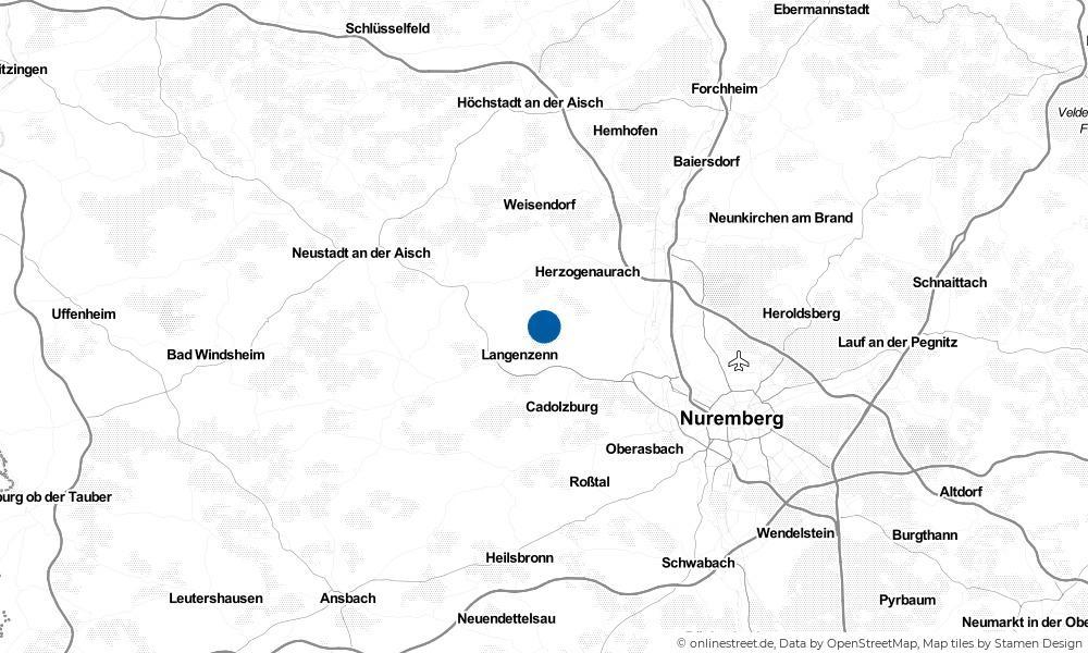 Karte: Wo liegt Puschendorf?