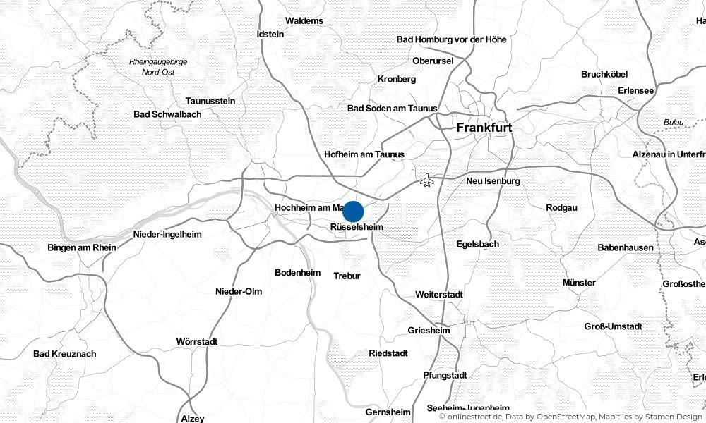 Karte: Wo liegt Flörsheim?