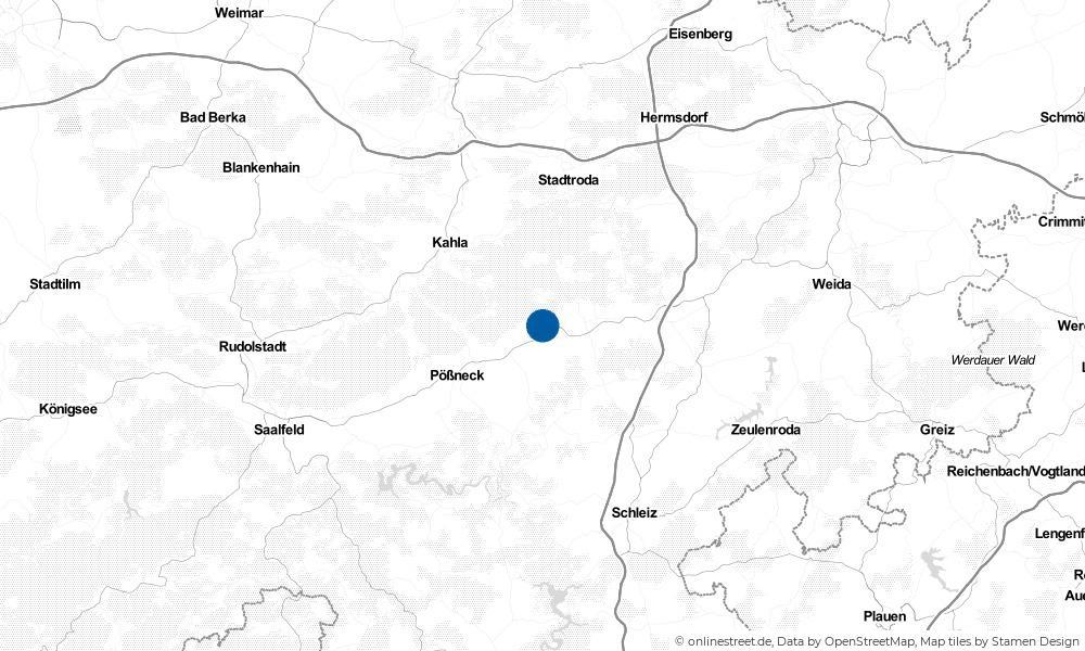 Karte: Wo liegt Lausnitz bei Neustadt an der Orla?