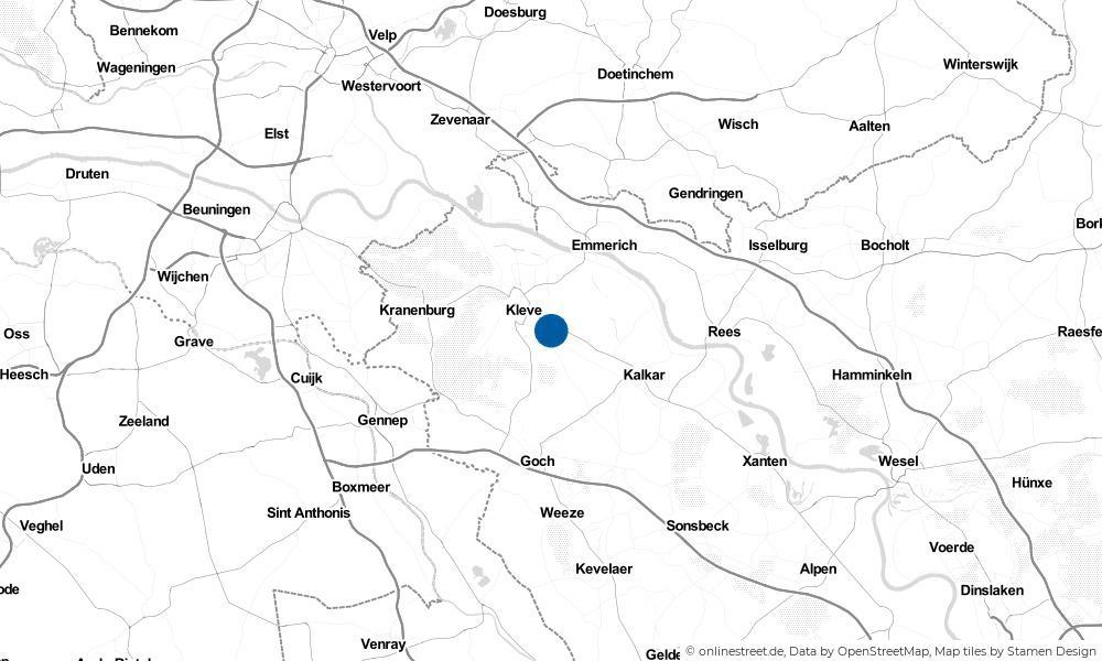 Karte: Wo liegt Bedburg-Hau?