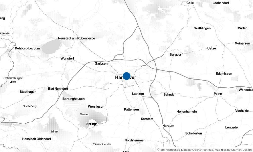 Karte: Wo liegt Hannover?