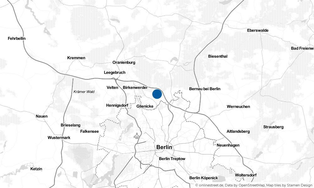 Karte: Wo liegt Mühlenbeck?
