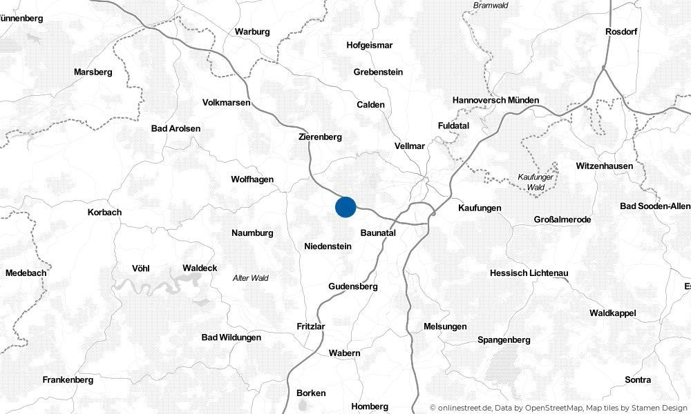 Karte: Wo liegt Schauenburg?