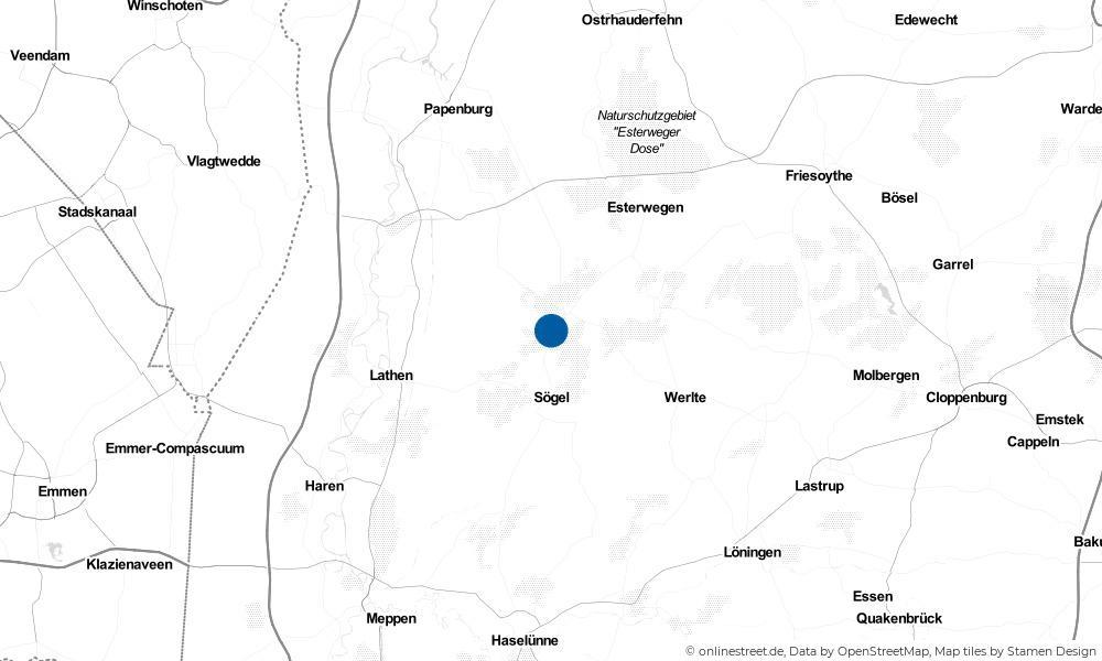 Karte: Wo liegt Börger?