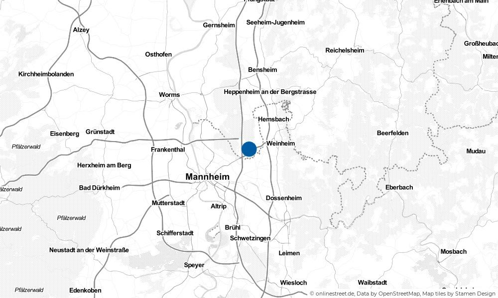 Karte: Wo liegt Viernheim?