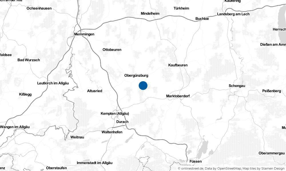 Karte: Wo liegt Günzach?