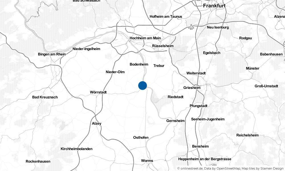 Karte: Wo liegt Nierstein?