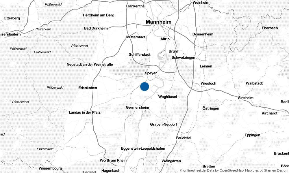 Karte: Wo liegt Römerberg?